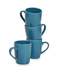Home Accents 4PK MUG-BLUE