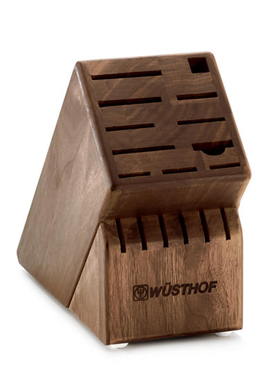 Wusthof 17-Slot Walnut Knife Block