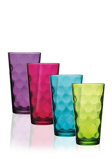 Home Essentials Eclipse Color Highball Glasses