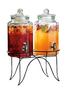 Home Essentials Del Sol Twin Hexagon 1 Gallon Dispenser w/Rack