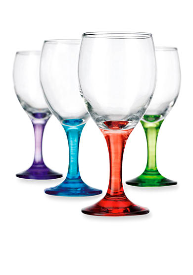Home Essentials Carnival White Wine Glasses Set of 4