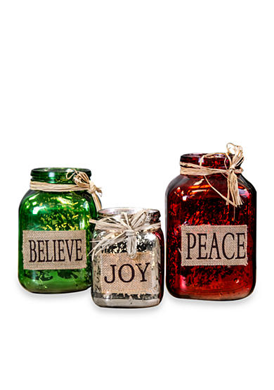 Home Essentials Peace, Believe, Joy Mason Votives