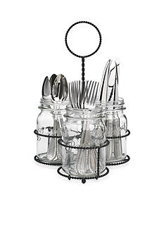 Home Essentials Mason Jar Flatware Caddy