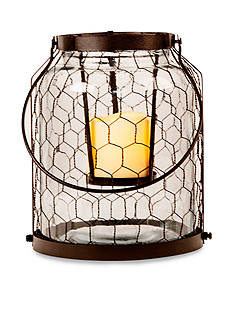 Front Porch 10-in. Chicken Wire Lantern