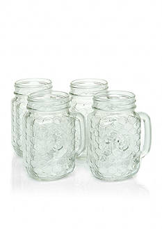 Home Essentials Set of 4 Country Chic Mason Jars