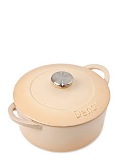 Denby Cook & Dine Cast Iron 3-qt. Round Covered Casserole