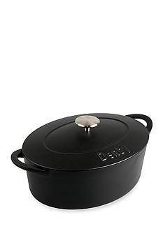 Denby Cook & Dine 4.4-qt. Round Cast Iron Oval Covered Casserole