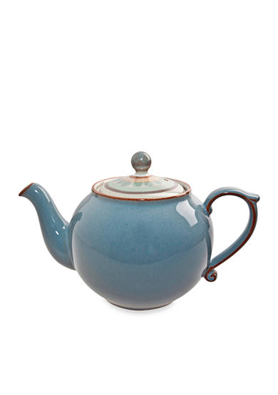 Denby Heritage Terrace Gray Accent Teapot - Online Only
