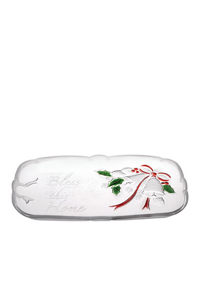 Mikasa holiday bells sentiment canape tray belk for Canape trays