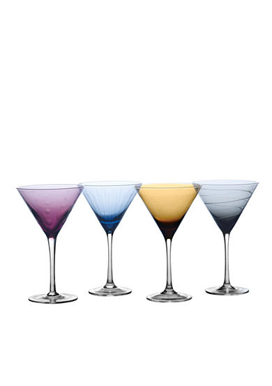 Mikasa Set of 4 Cheers Colors Martini Glasses