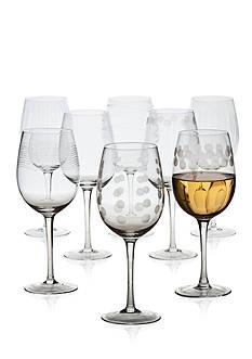 Mikasa Cheers Set of 8 White Wine Glasses
