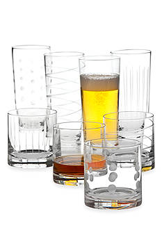 Mikasa Cheers Set of 8 Double Old-Fashioned Glasses and Highballs