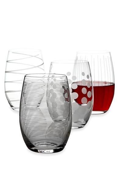 Mikasa Cheers Set of 4 Stemless Red Wine Glasses