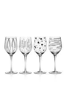 Mikasa Cheers Platinum Set of 4 Wine Glasses