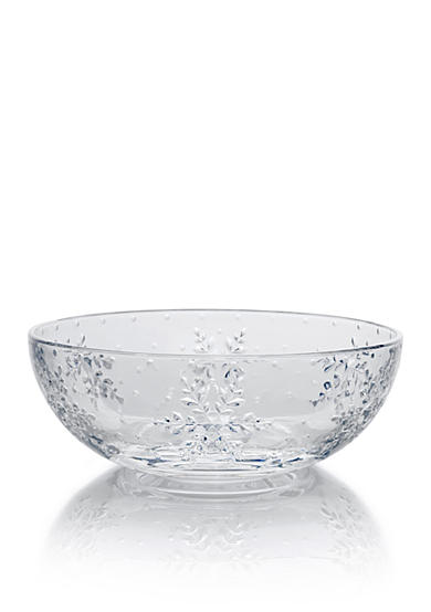 Mikasa Winter Flurries Glass Bowl
