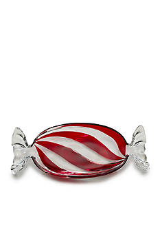 Mikasa Peppermint Twist Candy Wrapper Dish