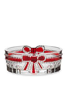 Mikasa Ruby Ribbon Glass Oval Candy Dish