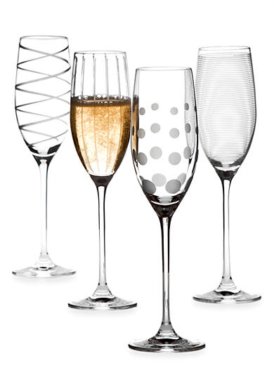 Mikasa Cheers Set of 4 Flutes