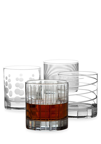 Mikasa Cheers Set of 4 Double Old-Fashioned Glasses