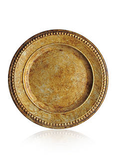 Jay Import 14-in. Beaded Antique Gold Charger