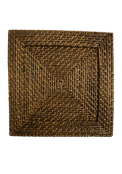 Jay Import Rattan Square Brick Brown Charger