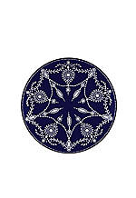 Empire Pearl Indigo Accent Plate