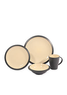 Baum Brothers Angled Ivory 16-Piece Dinnerware Set - Online Only