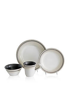 Baum Brothers Bellepoint Sand 16-Piece Dinnerware Set