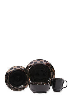Baum Brothers Checkered 16-Piece Dinnerware Set - Online Only
