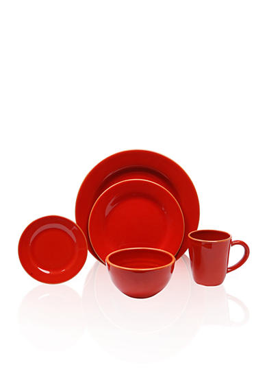 Baum Brothers Costa Del Sol Red 4-Piece Place Setting & Serveware