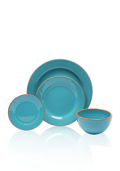Baum Brothers Costa Del Sol Turquoise 4-Piece Place Setting & Serveware