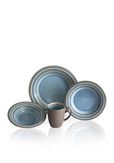Baum Brothers Color Stack Blue 16-Piece Dinnerware Set