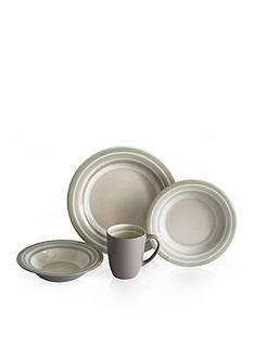 Baum Brothers Color Stack Latte 16-Piece Dinnerware Set