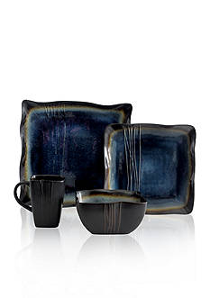 Baum Brothers Galaxy Denim 16-Piece Dinnerware Set