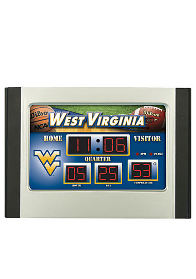 Evergreen West Virginia Mountaineers Scoreboard Alarm Clock