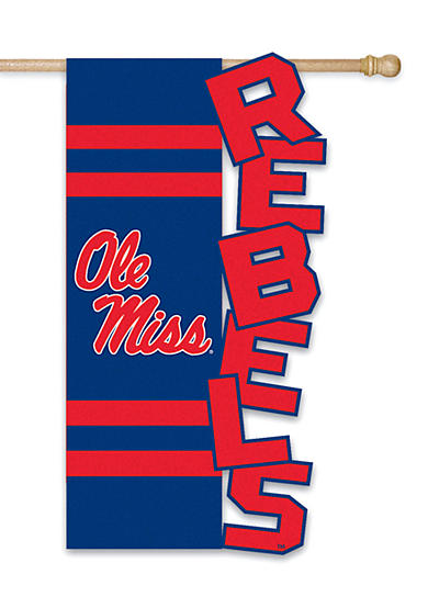 Evergreen Ole Miss Rebels Small Flag