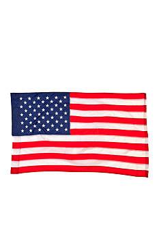 Evergreen American Regular Size Applique Flag