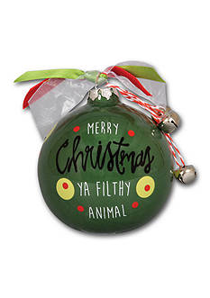 Magnolia Lane 3.5-in. 'Merry Christmas Ya Filthy Animal' Ornament