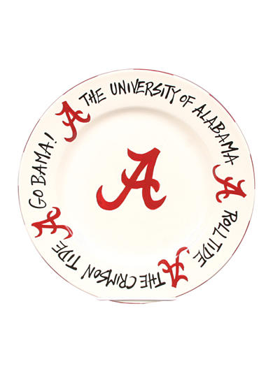 Magnolia Lane Alabama Crimson Tide Round Plate