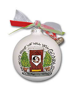 Magnolia Lane 3.5-in.Florida State University My House Ball Ornament