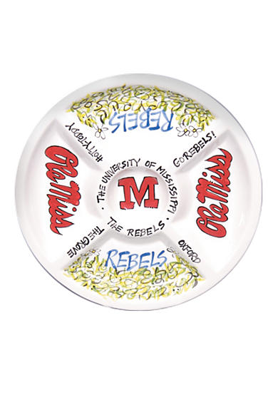 Ole Miss Rebels Divided Veggie Plate