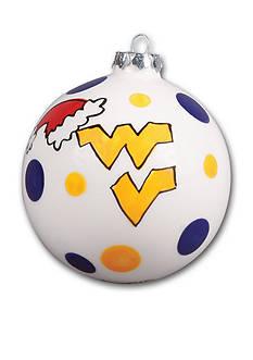 Magnolia Lane 4-in. West Virginia University Polka Dot Ornament