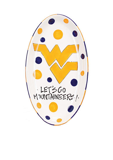 West Virginia Mountaineers Oval Tray