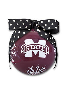 Magnolia Lane 4-in. Mississippi State University Snowflake Ball Ornament