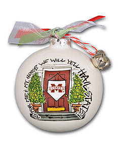 Magnolia Lane 3.5-in. Mississippi State University My House Ball Ornament