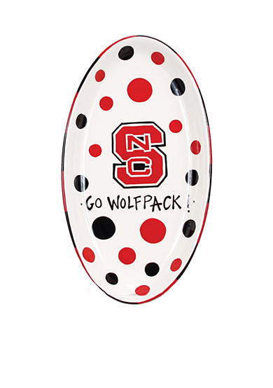 NC State Oval Tray