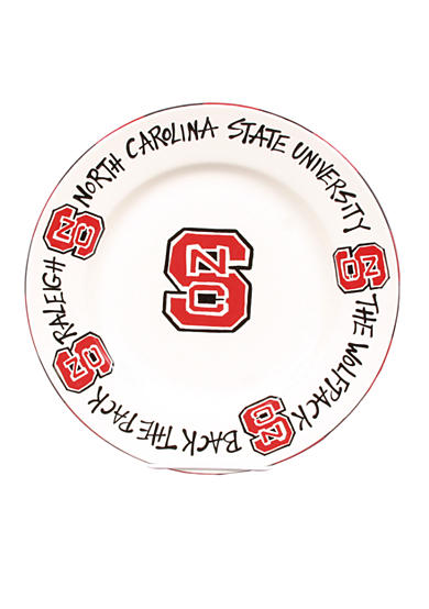 Magnolia Lane NC State Wolfpack Round Plate