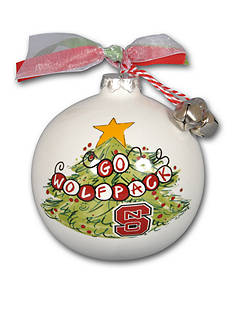 Magnolia Lane 3.5-in NC State University Christmas Tree Ornament