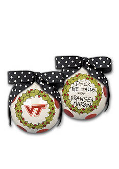 Magnolia Lane Virginia Tech Christmas Ornament