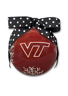 Magnolia Lane 4-in. Virginia Tech Snowflake Ball Ornament